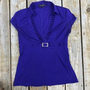 Express design studio purple medium dressy shirt